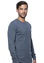 Unisex Organic Long Sleeve Tee PACIFIC BLUE Side