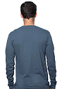 Unisex Organic Long Sleeve Tee PACIFIC BLUE Back
