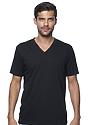 Unisex Organic Short Sleeve V-neck NIGHT Front