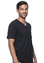 Unisex Organic Short Sleeve V-neck NIGHT Side