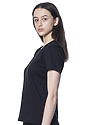 Women's Relaxed Fit Short Sleeve Tee BLACK 2