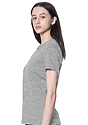 Women's Relaxed Fit Short Sleeve Tee HEATHER GREY 2
