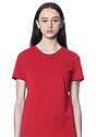 Women's Relaxed Fit Short Sleeve Tee RED 1