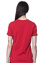 Women's Relaxed Fit Short Sleeve Tee RED 3