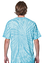 Unisex Organic Spiral Tie Dye Tee AQUAMARINE 3