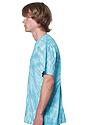 Unisex Organic Spiral Tie Dye Tee AQUAMARINE 2