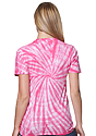 Unisex Organic Spiral Tie Dye Tee FLAMINGO 3