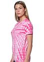 Unisex Organic Spiral Tie Dye Tee FLAMINGO 2