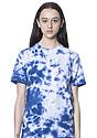 Unisex Cloud Tie Dye Tee SKYDIVER Front2