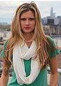 Unisex Viscose Bamboo Organic Cotton Infinity Scarf CANVAS Front