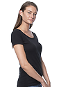 Women's Viscose Bamboo Organic Cotton Scoop Neck ECLIPSE Side