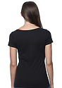 Women's Viscose Bamboo Organic Cotton Scoop Neck ECLIPSE Back