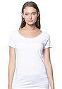 Women's Viscose Bamboo Organic Cotton Scoop Neck FROST Front