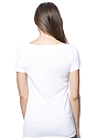 Women's Viscose Bamboo Organic Cotton Scoop Neck FROST Back