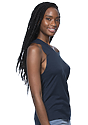 Women's Viscose Bamboo Organic Cotton Muscle MIDNIGHT Side
