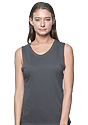 Women's Viscose Bamboo Organic Cotton Muscle PEWTER Front