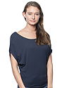 Women's Viscose Bamboo Organic Cotton Poncho MIDNIGHT Front
