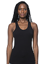 Viscose Bamboo Organic Combed Spandex Racer Tank  Front