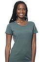 Women's Organic RPET Short Sleeve Tee HEATHER PINE Front