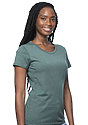 Women's Organic RPET Short Sleeve Tee HEATHER PINE Side
