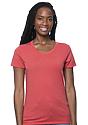 Women's Organic RPET Short Sleeve Tee HEATHER TOMATO Front