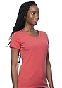 Women's Organic RPET Short Sleeve Tee HEATHER TOMATO Side