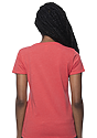 Women's Organic RPET Short Sleeve Tee HEATHER TOMATO Back