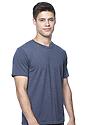 Unisex Organic RPET Short Sleeve Tee HEATHER DUSK Side