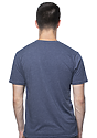 Unisex Organic RPET Short Sleeve Tee HEATHER DUSK Back