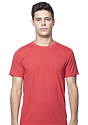 Unisex Organic RPET Short Sleeve Tee HEATHER TOMATO Front