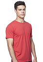 Unisex Organic RPET Short Sleeve Tee HEATHER TOMATO Side