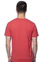 Unisex Organic RPET Short Sleeve Tee HEATHER TOMATO Back