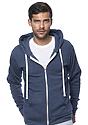 Unisex Organic RPET Fleece Zip Hoodie HEATHER DUSK Front