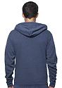 Unisex Organic RPET Fleece Zip Hoodie HEATHER DUSK Front3