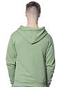 Unisex Organic RPET Fleece Zip Hoodie HEATHER KIWI Side