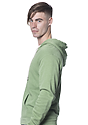 Unisex Organic RPET Fleece Zip Hoodie HEATHER KIWI Front3