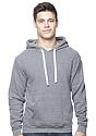 Unisex Organic RPET Fleece Pullover Hoodie HEATHER ASH Front