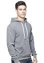 Unisex Organic RPET Fleece Pullover Hoodie HEATHER ASH Side