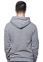 Unisex Organic RPET Fleece Pullover Hoodie HEATHER ASH Back
