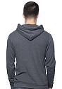 Unisex Organic RPET Fleece Pullover Hoodie HEATHER COAL Back