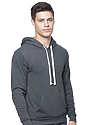 Unisex Organic RPET Fleece Pullover Hoodie HEATHER COAL Side