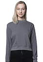 Womens Organic RPET French Terry Crew HEATHER ASH Front