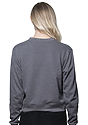 Womens Organic RPET French Terry Crew HEATHER ASH Back