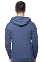 Unisex Organic RPET French Terry Zip Hoodie HEATHER DUSK Front