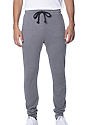 Unisex Organic RPET French Terry Jogger Pant HEATHER ASH Front