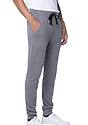 Unisex Organic RPET French Terry Jogger Pant HEATHER ASH Side
