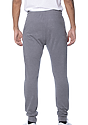 Unisex Organic RPET French Terry Jogger Pant HEATHER ASH Back