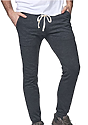 Unisex Organic RPET French Terry Jogger Pant HEATHER COAL Front