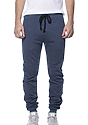 Unisex Organic RPET French Terry Jogger Pant HEATHER DUSK Front