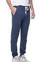 Unisex Organic RPET French Terry Jogger Pant HEATHER DUSK Side